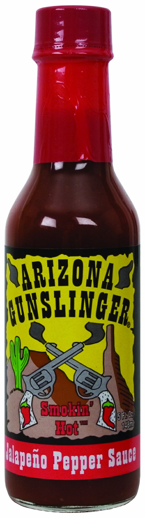 Arizona gunslinger AZ hot pepper red jalapeno sauce