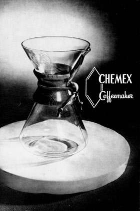chemex coffeemaker vintage non-electric drip brew american made usa manufacturing kitchen appliance glass pyrex antique Chemistry