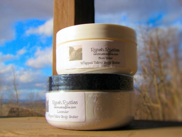 Ranch Rustics Whipped Tallow Butter Petey Kim ForPeteysake blogspot Range to Range grassfed natural bodybutter skin care cool water and lavendar